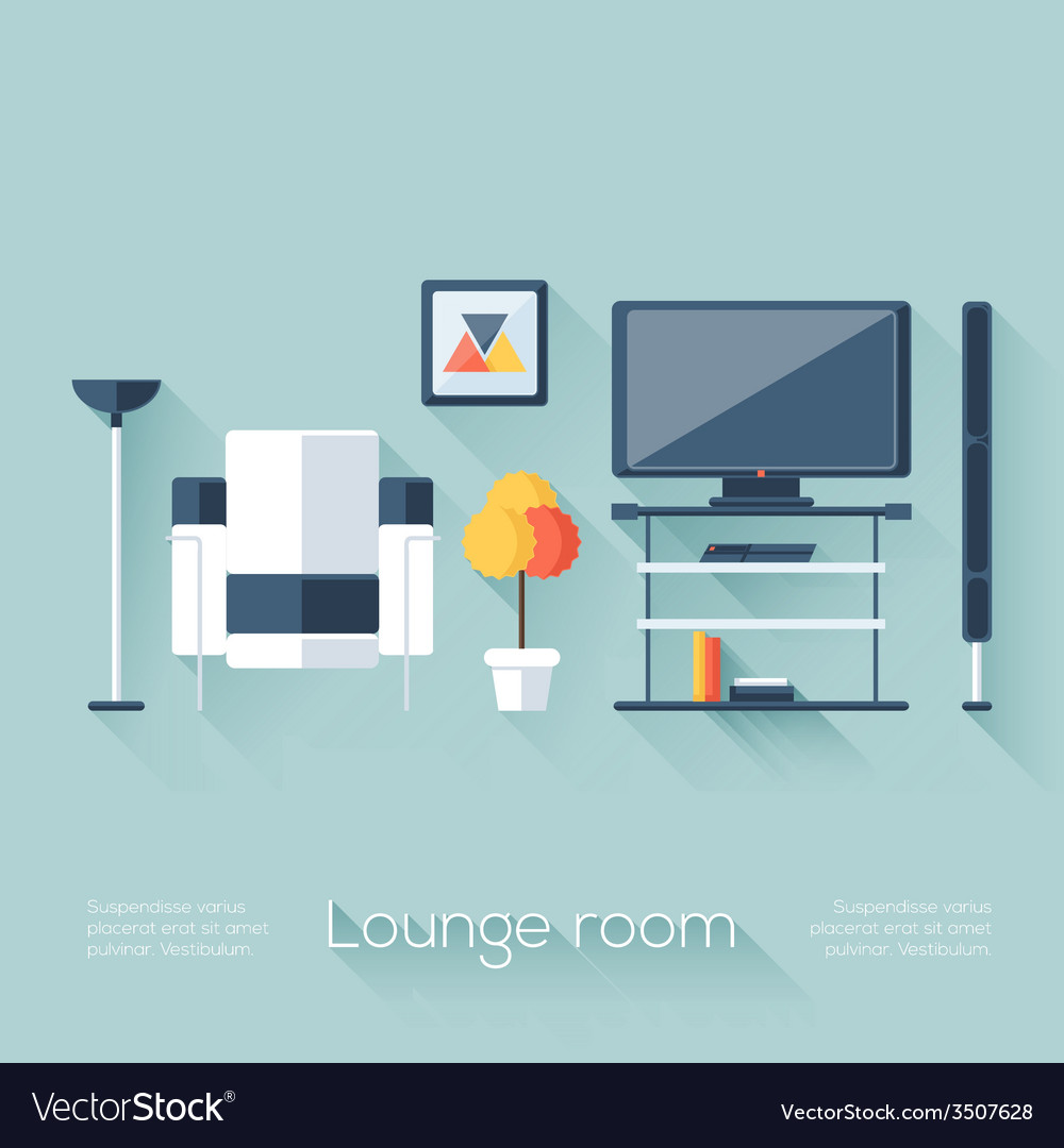 Lounge or sitting room cover vector | Price: 1 Credit (USD $1)