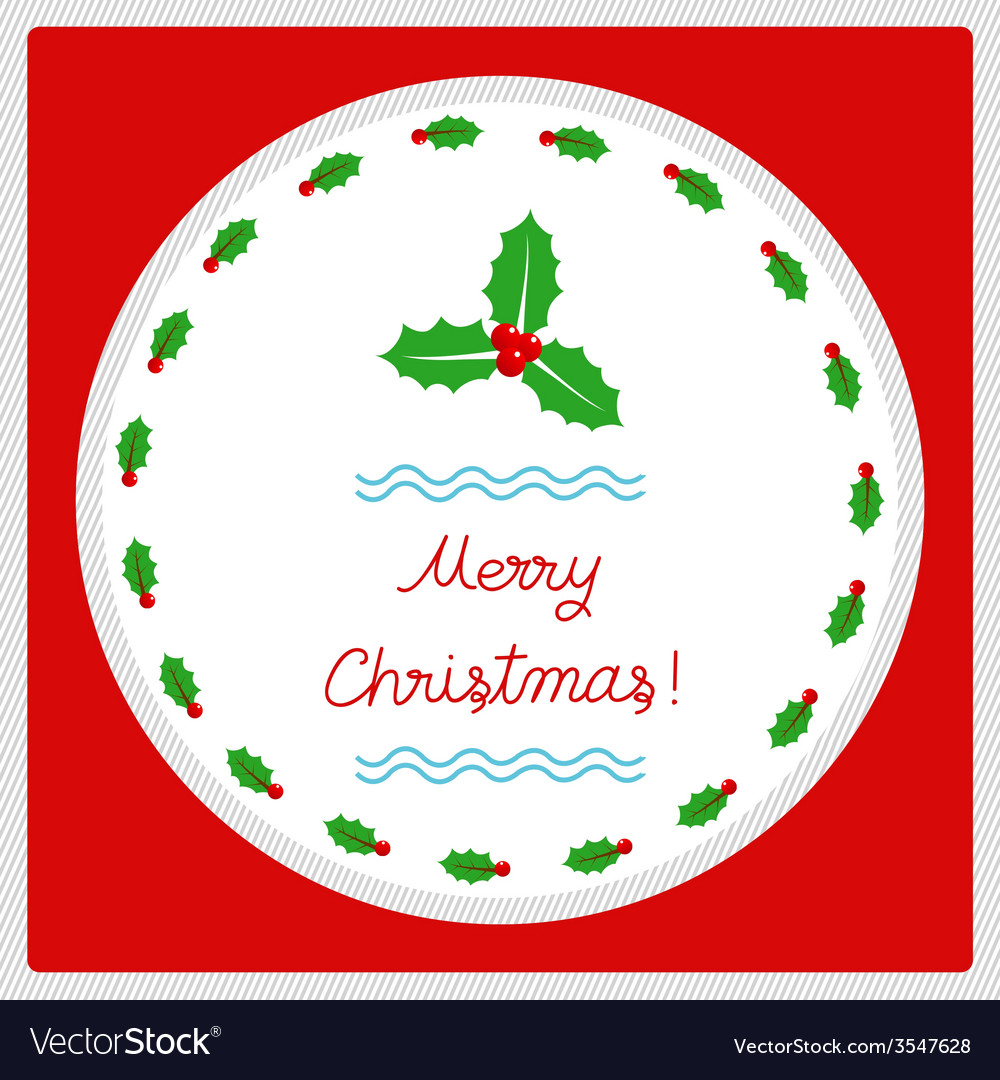 Merry christmas greeting card52 vector | Price: 1 Credit (USD $1)