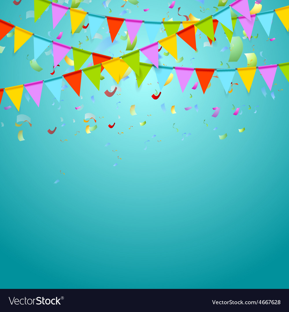 Party flags colorful celebrate abstract background vector | Price: 1 Credit (USD $1)