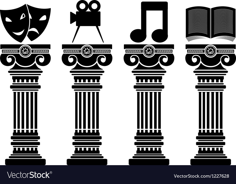 Pedestals of arts stencils vector | Price: 1 Credit (USD $1)