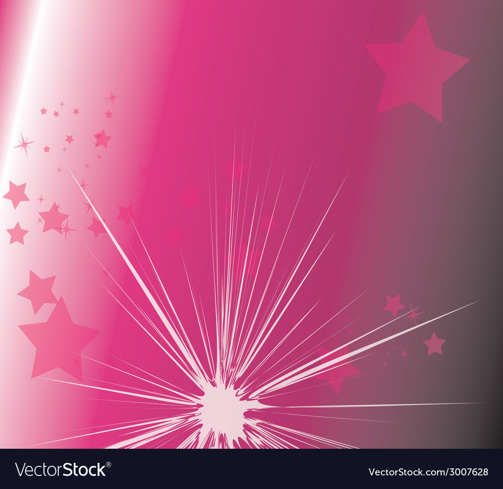 Star light with purple background vector