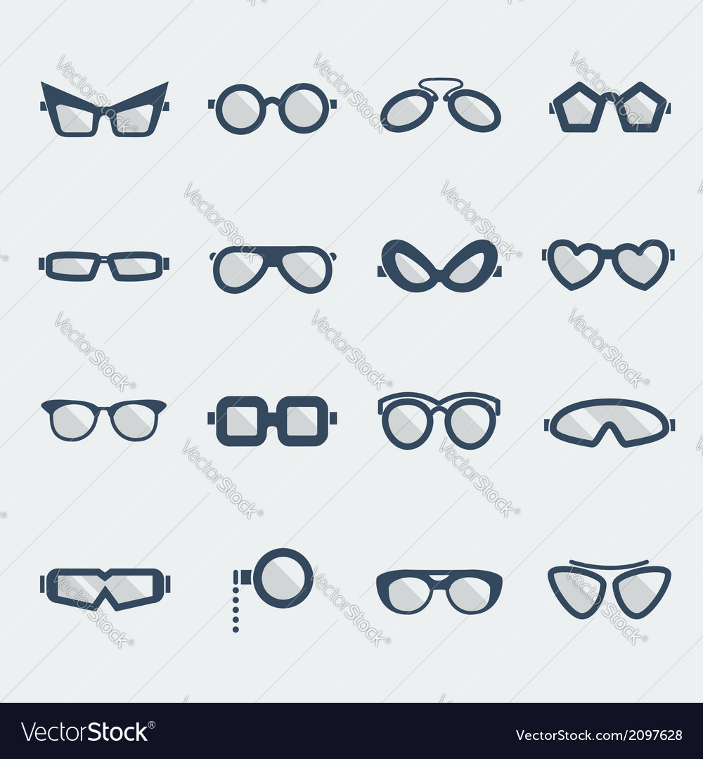 Sunglasses and glasses vector | Price: 1 Credit (USD $1)