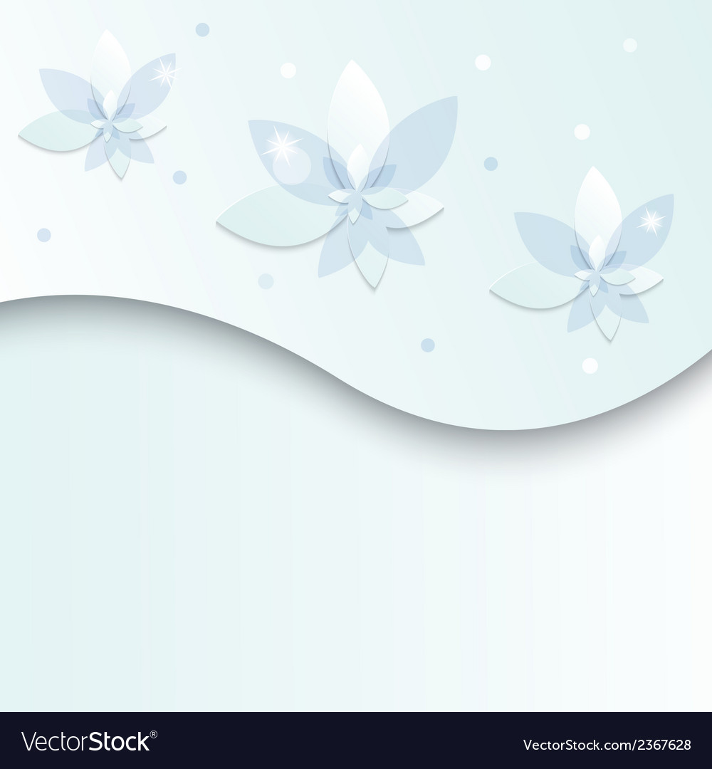 White blue flowers on a light background vector | Price: 1 Credit (USD $1)
