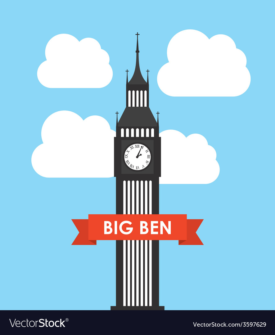 Big ben design vector | Price: 1 Credit (USD $1)