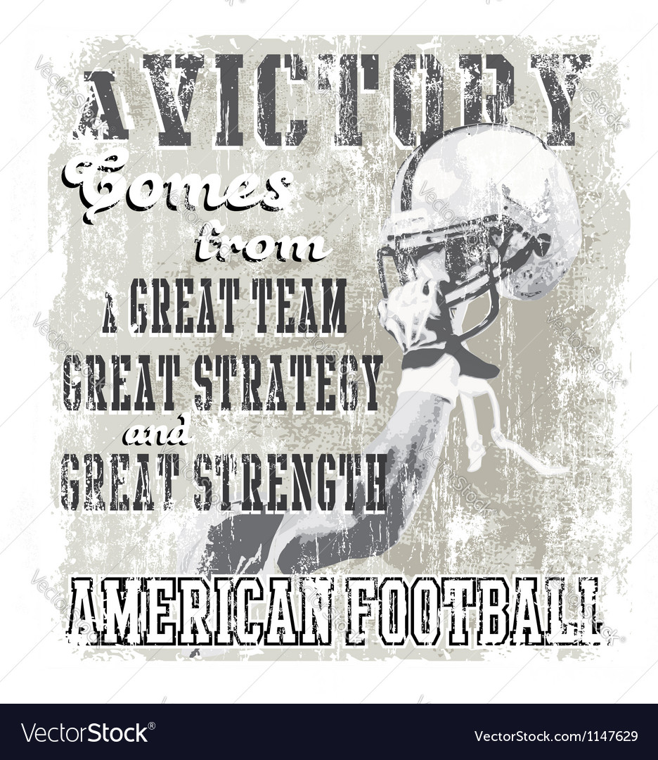 Football victory vector