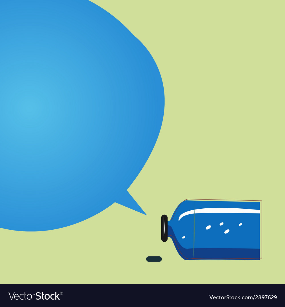 Old bank with a speech bubble vector | Price: 1 Credit (USD $1)