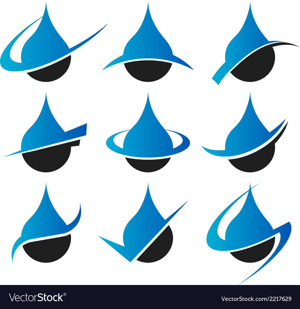 Raindrop icons vector | Price: 1 Credit (USD $1)