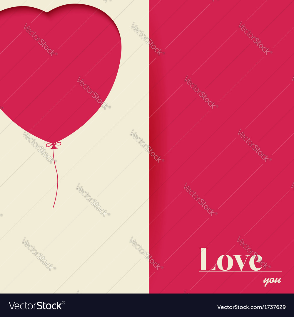 Red paper heart valentines day card vector | Price: 1 Credit (USD $1)