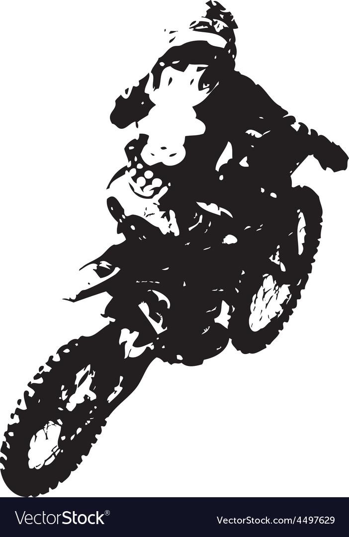 Rider participates motocross championship vector | Price: 1 Credit (USD $1)