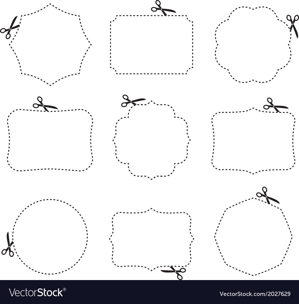 Scissors and frames vector