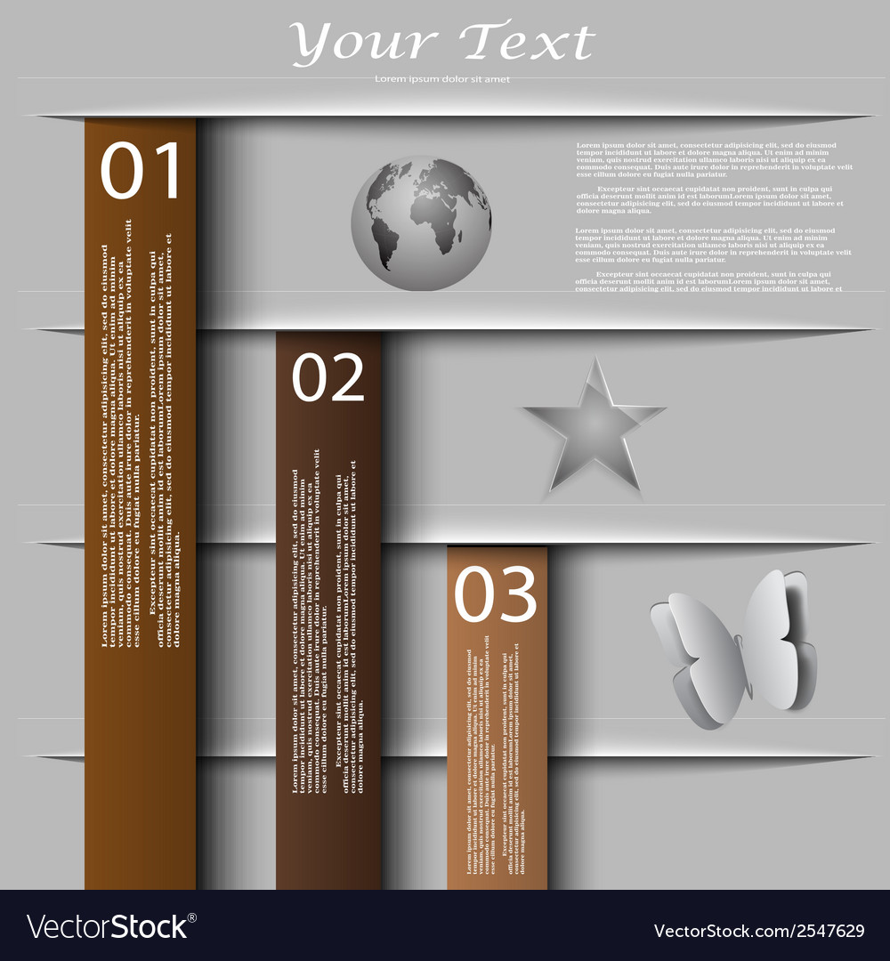 Vintage design with banners website presentation vector | Price: 1 Credit (USD $1)