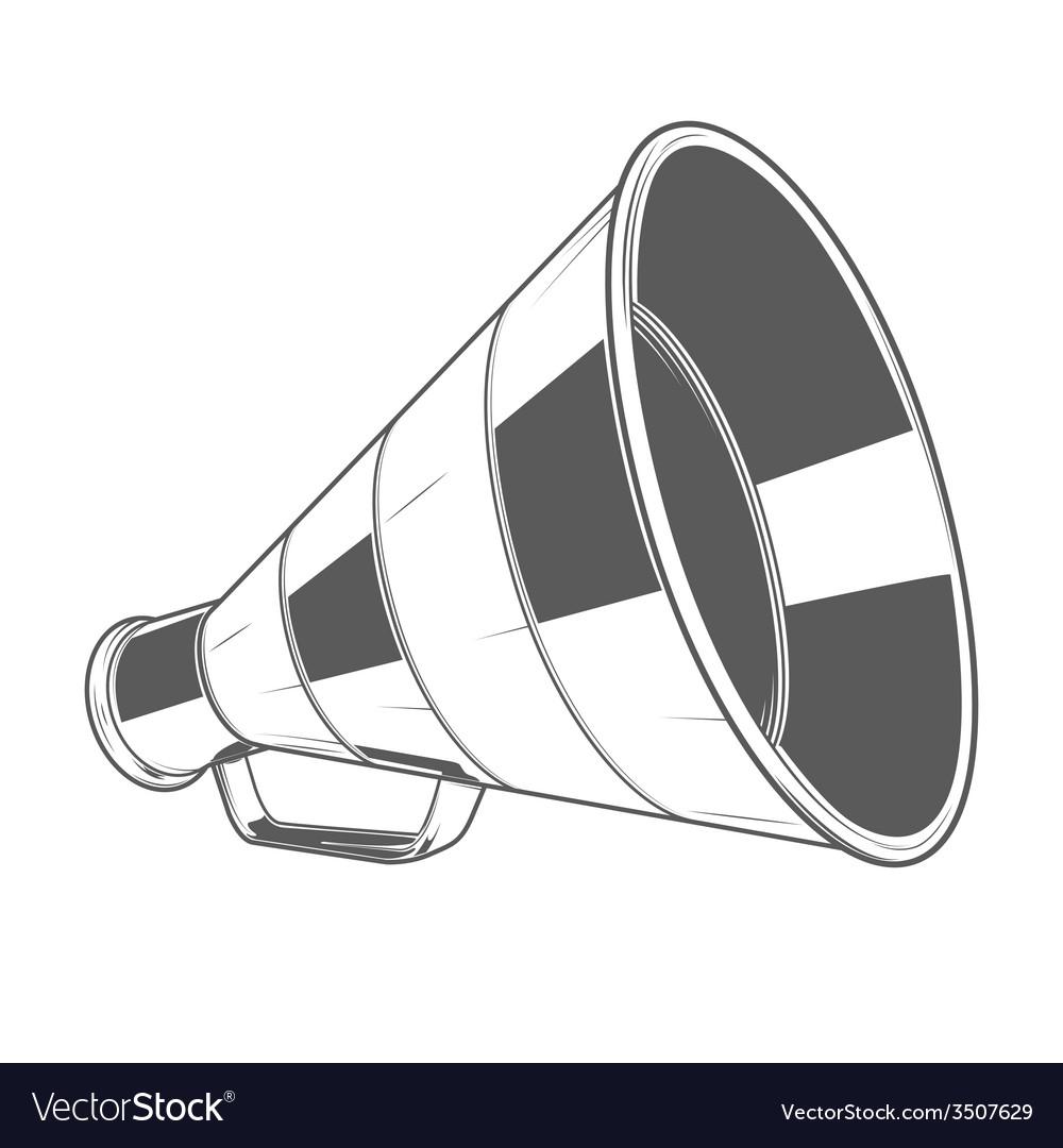 Vintage megaphone vector | Price: 1 Credit (USD $1)