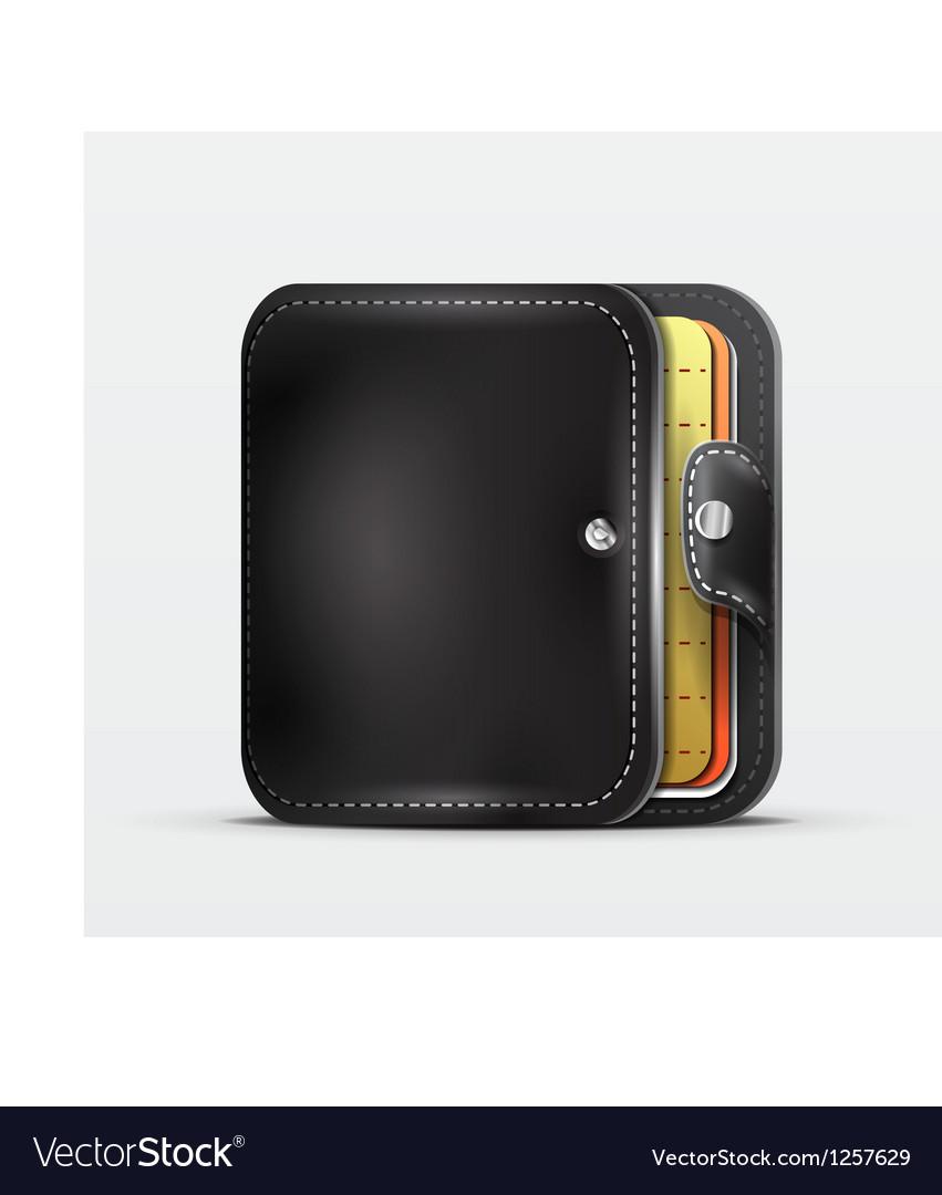 Wallet  organizer mobile app icon vector | Price: 3 Credit (USD $3)
