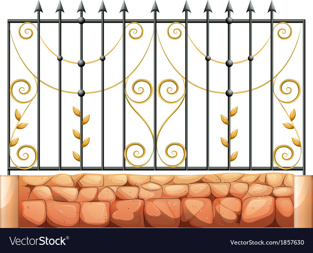 A gate made of pointed steel vector | Price: 1 Credit (USD $1)