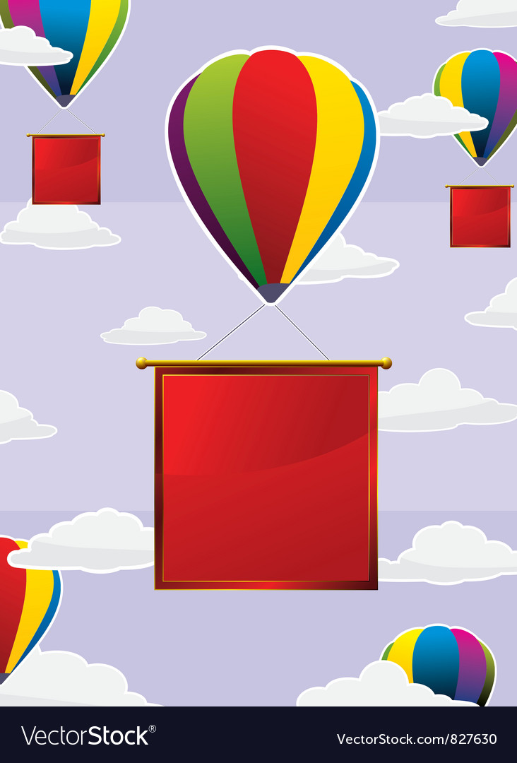 Balloons frame square vector | Price: 1 Credit (USD $1)