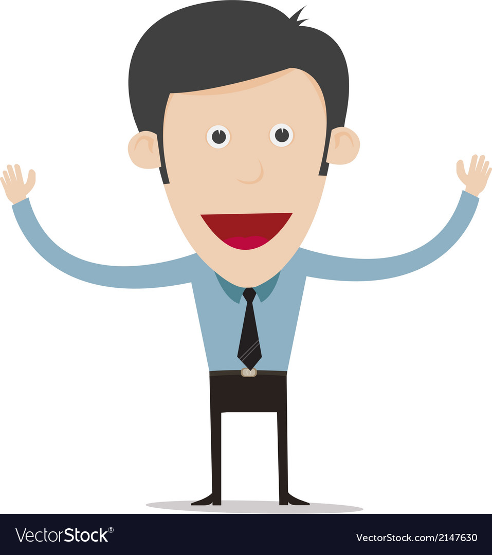 Cartoon business person vector | Price: 1 Credit (USD $1)