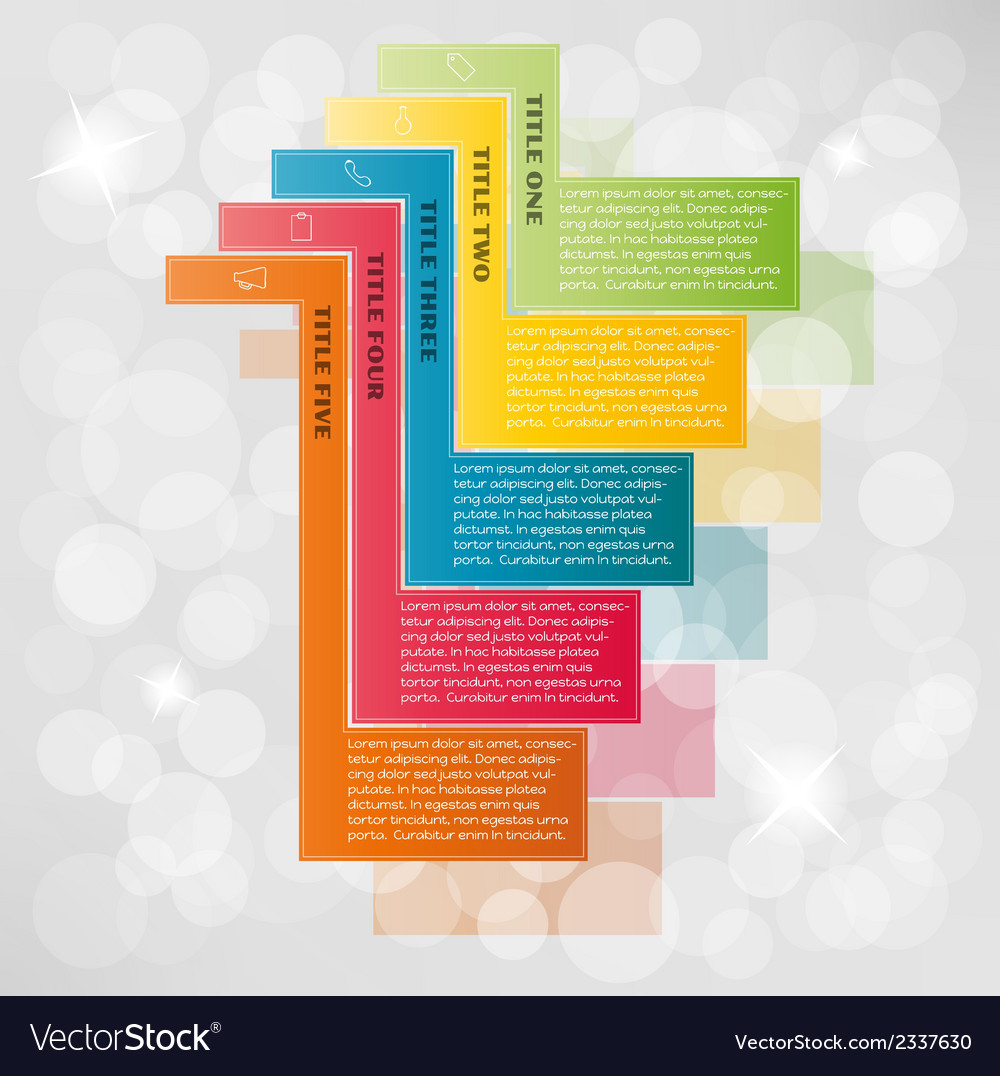 Infographic with fragments vector | Price: 1 Credit (USD $1)