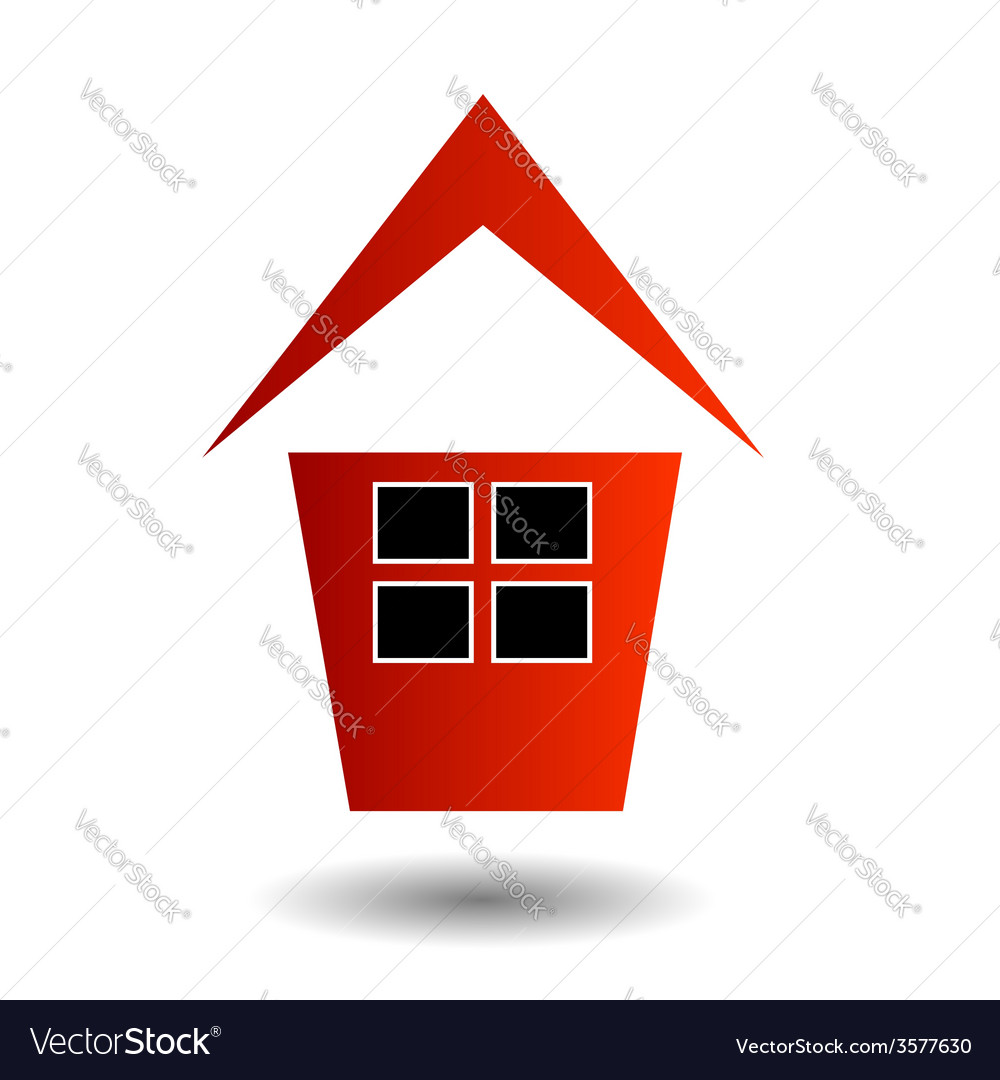 Logo showing growing real estate market vector | Price: 1 Credit (USD $1)