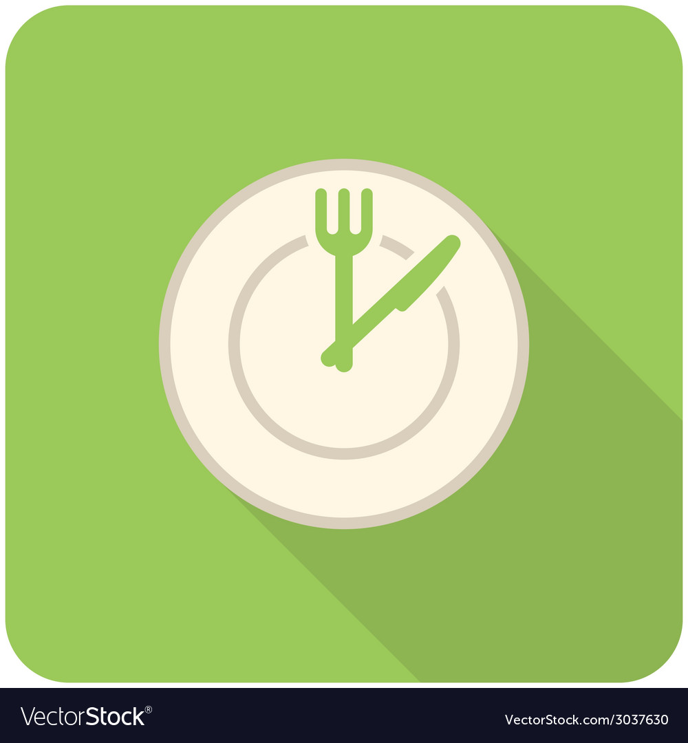 Lunch time icon vector | Price: 1 Credit (USD $1)