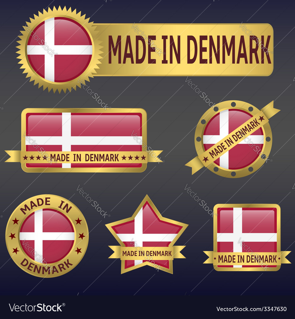 Made in denmark vector | Price: 3 Credit (USD $3)