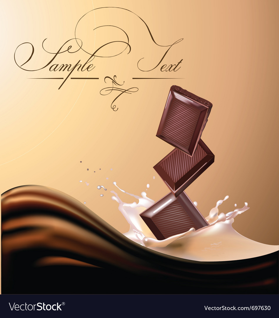 Milk and chocolate vector | Price: 3 Credit (USD $3)