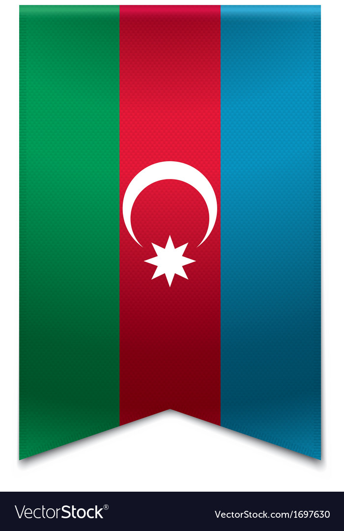 Ribbon banner - azerbaijani flag vector | Price: 1 Credit (USD $1)