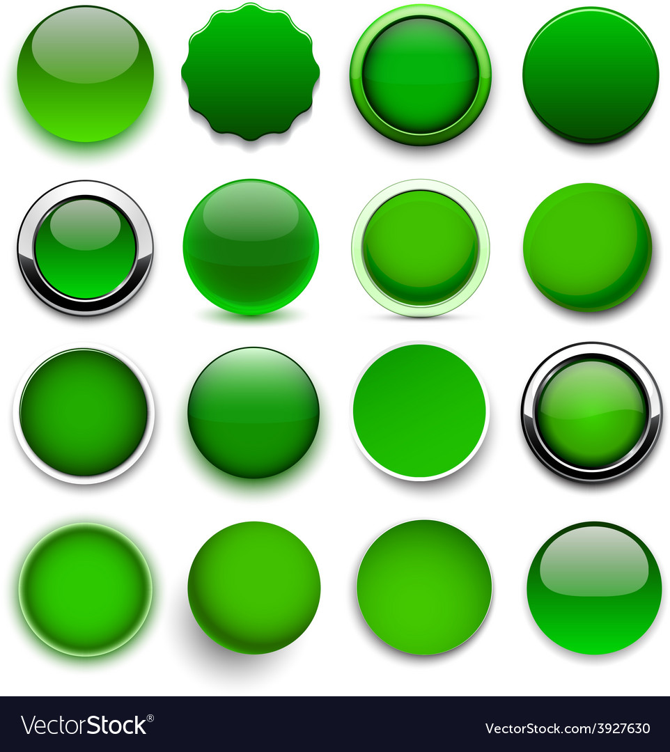 Round green icons vector | Price: 1 Credit (USD $1)