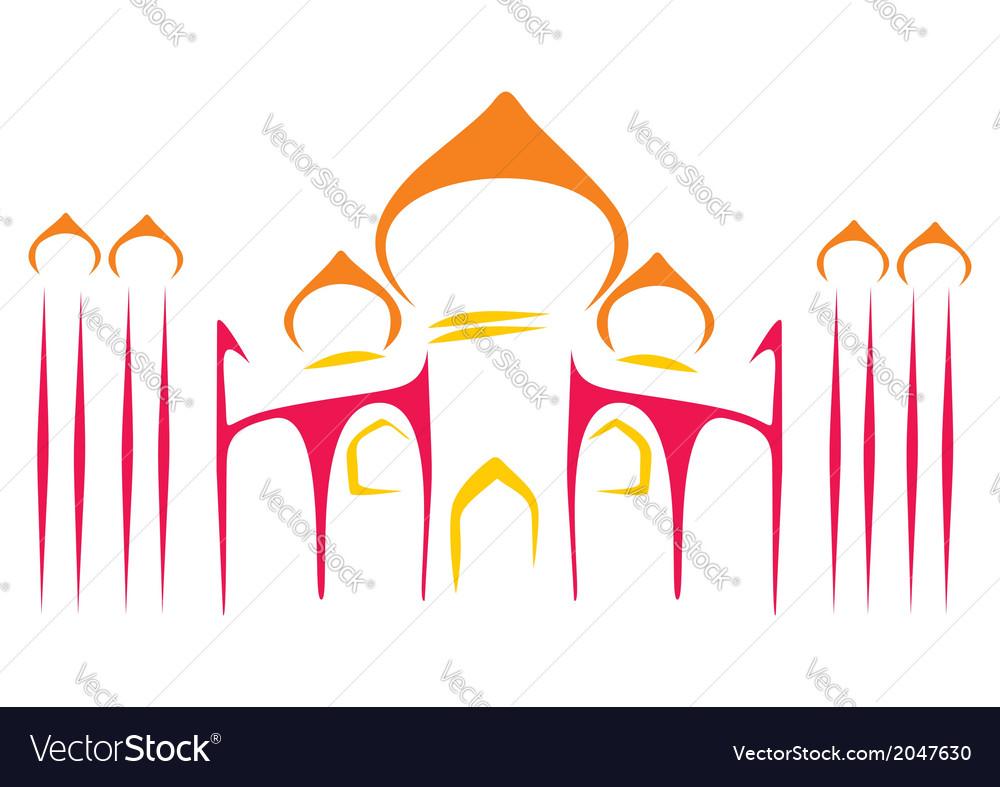 Temple symbol vector | Price: 1 Credit (USD $1)