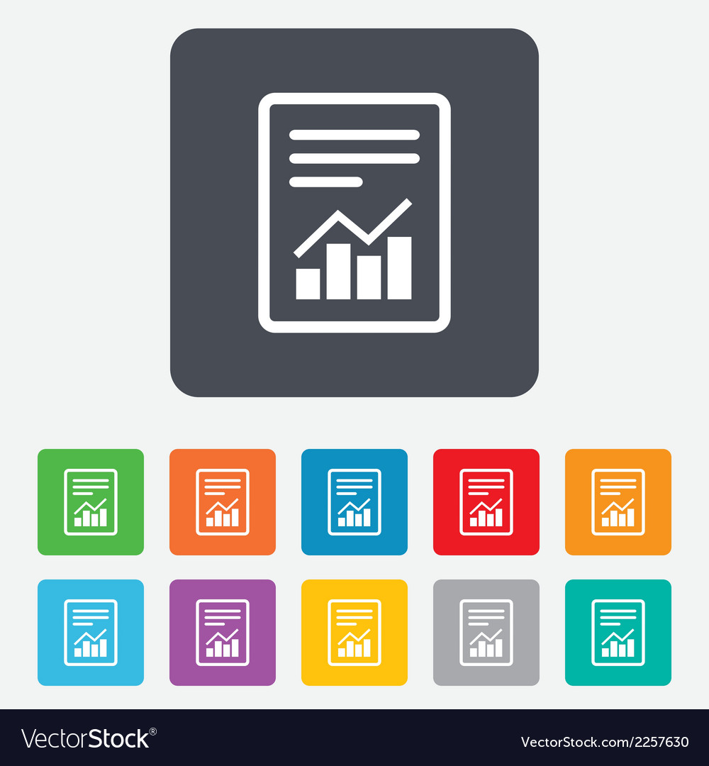 Text file sign file document with chart symbol vector | Price: 1 Credit (USD $1)