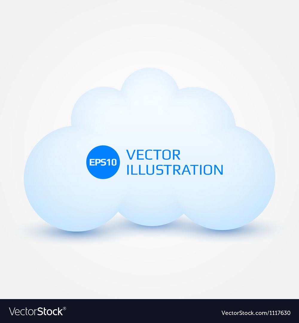 White cloud vector | Price: 1 Credit (USD $1)