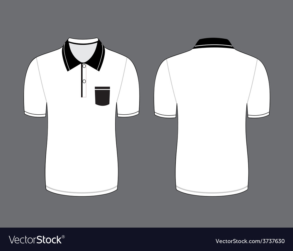 White polo t shirt vector | Price: 1 Credit (USD $1)