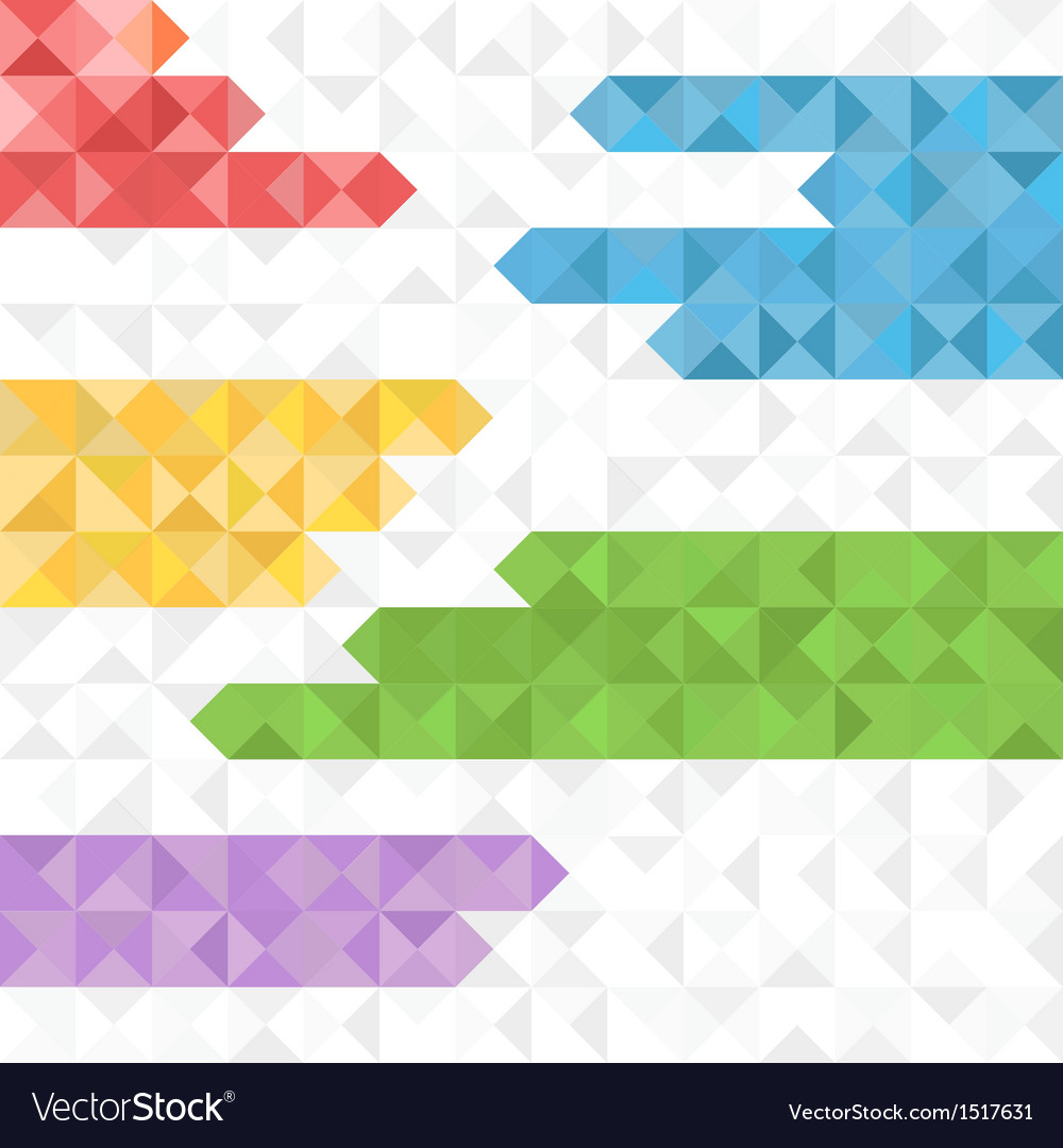 Abstract geometric background of color blocks vector | Price: 1 Credit (USD $1)
