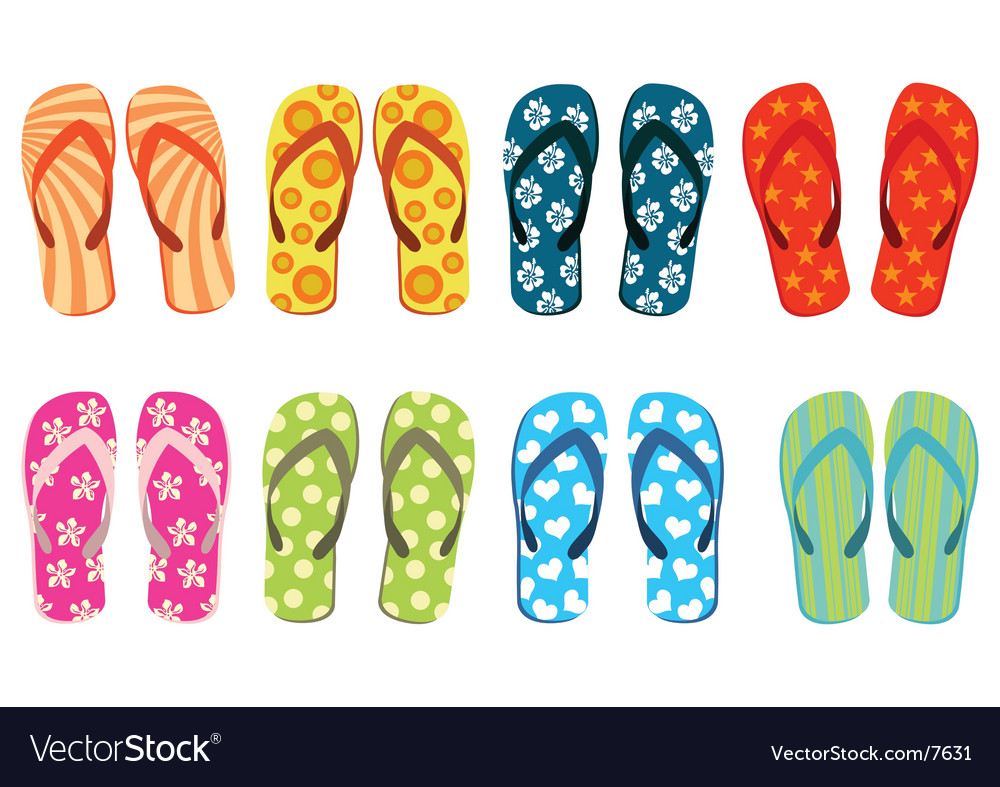 Beach sandals vector | Price: 1 Credit (USD $1)