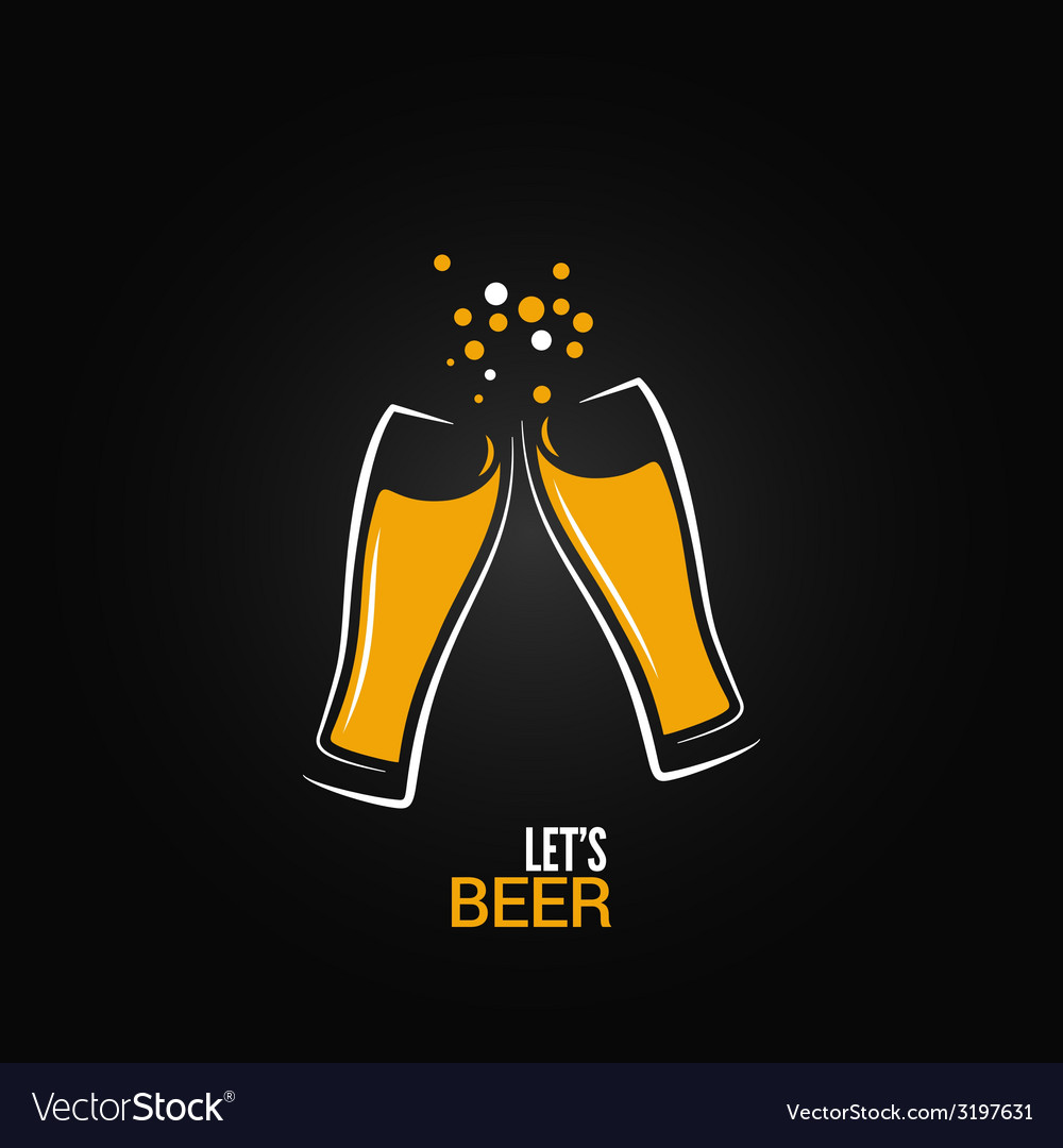 Beer glass drink splash design background vector | Price: 1 Credit (USD $1)