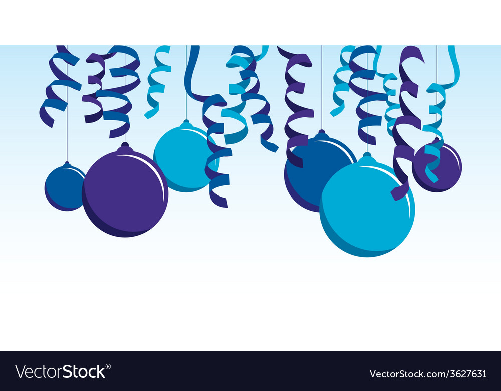 Blue balloon banner vector | Price: 1 Credit (USD $1)