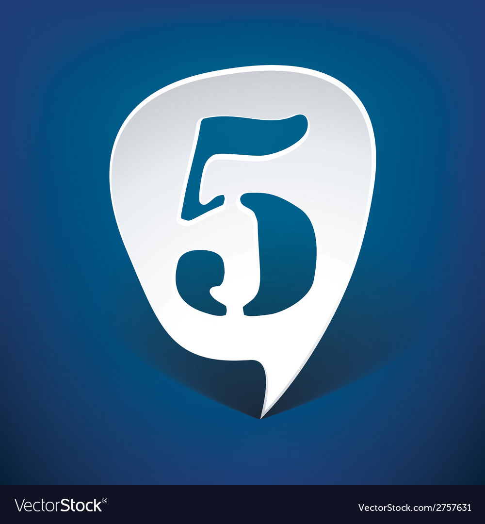 Bubble speech number 5 vector   Price: 1 Credit (USD $1)