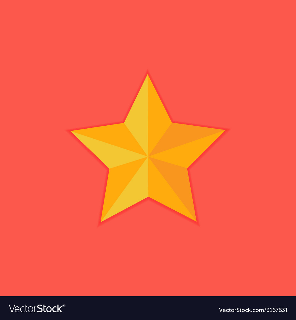 Christmas yellow star flat icon vector | Price: 1 Credit (USD $1)