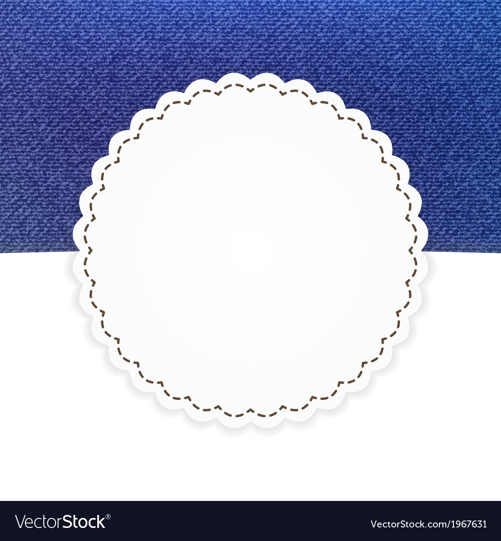Jeans blue and white card template vector | Price: 1 Credit (USD $1)
