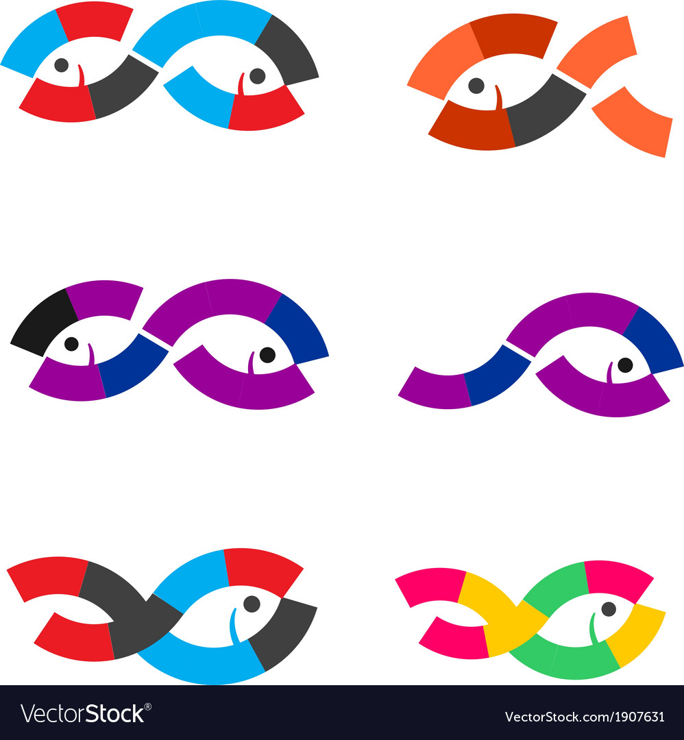 Logo fish abstract vector | Price: 1 Credit (USD $1)