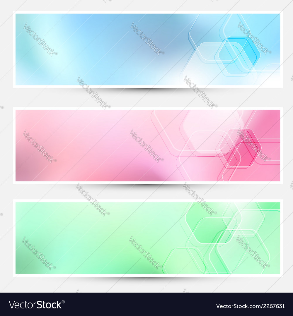 Modern bright hexagon cards collection vector | Price: 1 Credit (USD $1)