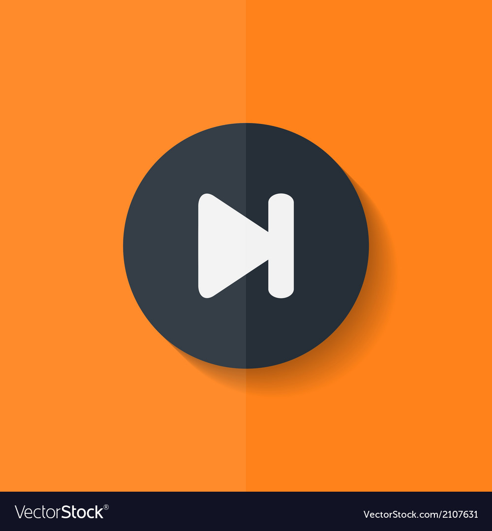 Next track web iconmedia player flat design vector | Price: 1 Credit (USD $1)