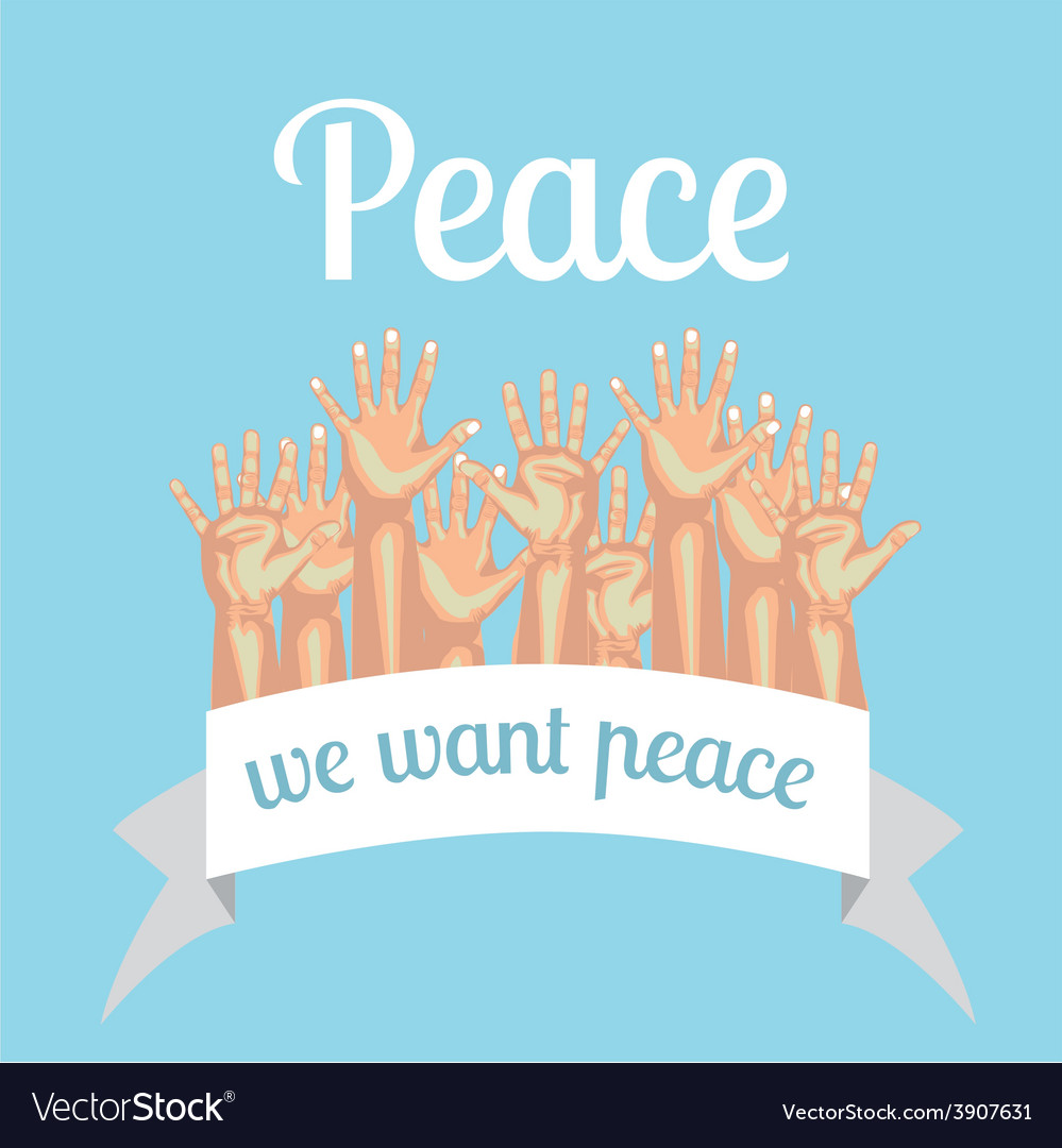 Peace design over blue background vector | Price: 1 Credit (USD $1)