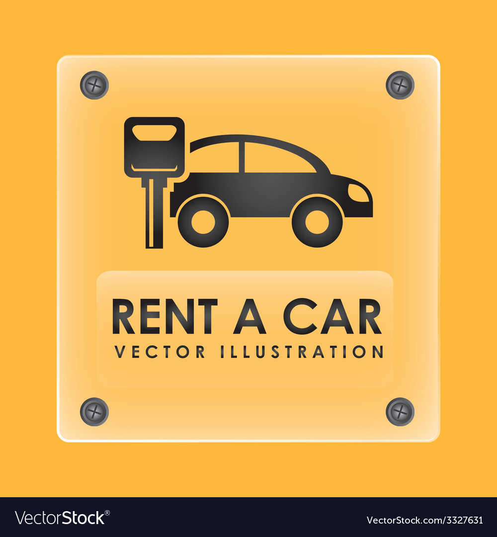 Rent car design vector | Price: 1 Credit (USD $1)