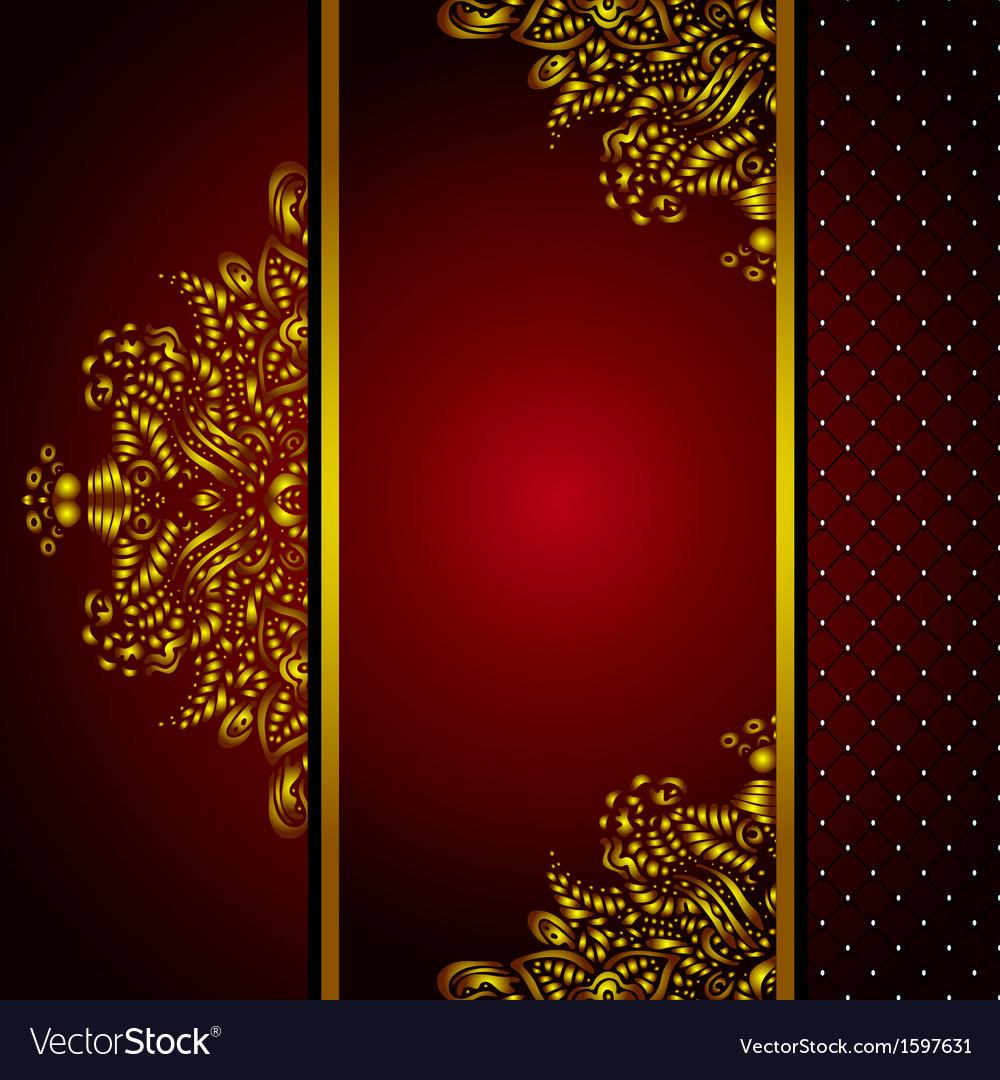 Royal golden frame menu card vector   Price: 1 Credit (USD $1)