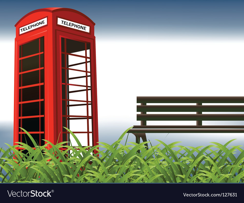 Telephone booth vector | Price: 1 Credit (USD $1)