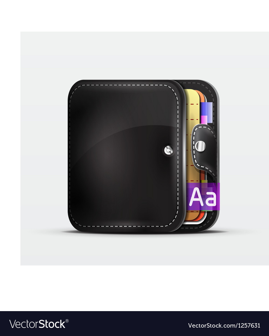 Wallet  organizer mobile app icon vector | Price: 3 Credit (USD $3)