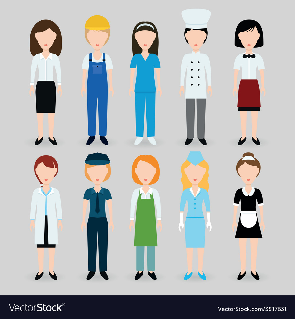 Women profession vector | Price: 1 Credit (USD $1)