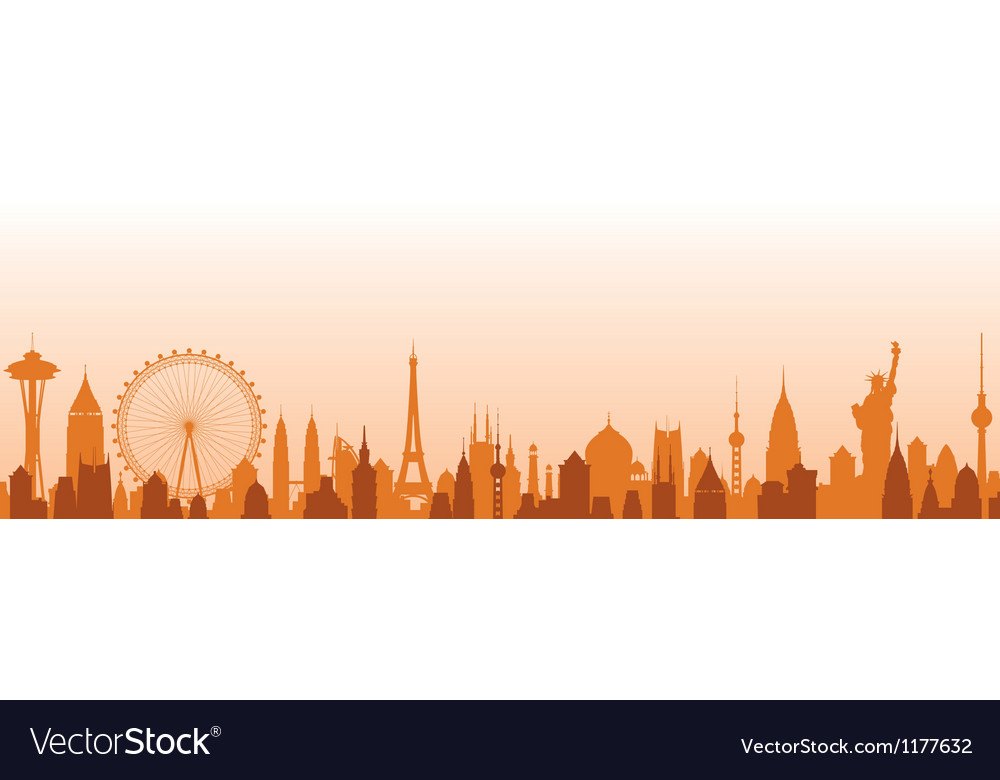 Cityscape background vector | Price: 1 Credit (USD $1)