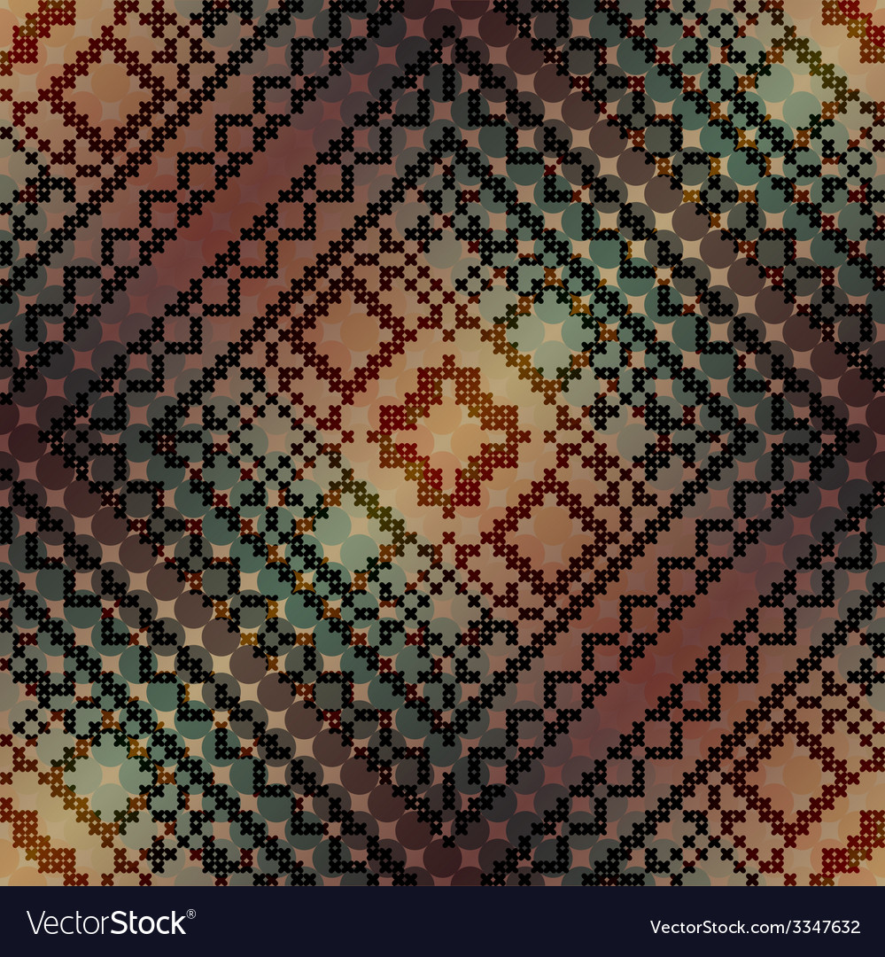 The cross-stitch pattern on diagonal gradient vector | Price: 1 Credit (USD $1)