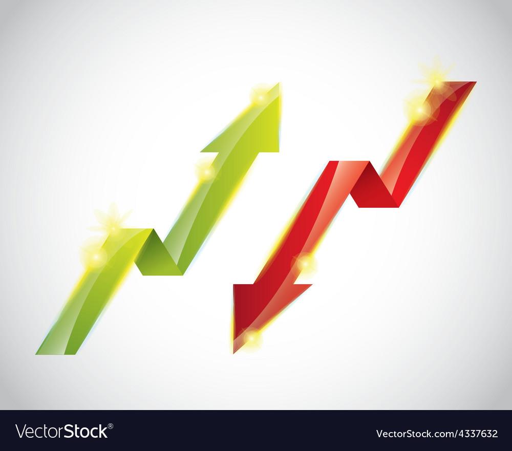 Growth symbol vector | Price: 1 Credit (USD $1)